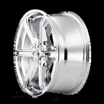 Mazzi 371 Stilts Chrome 20x8.5 6x135/6x139.7 30mm 106mm - wheel side view