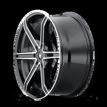 Mazzi 371 Stilts Black w/ Machined Face 20x8.5 5x108/5x114.3 35mm 72.6mm - wheel side view