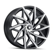 Mazzi 372 Matte Black w/ Dark Tint 18x8 5x108/5114.3 35mm 72.6mm