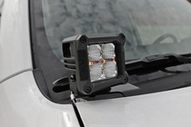 Toyota 2IN LED Lower Windshield Ditch Kit (10-20 4-Runner) - mounted view