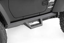 Jeep Contoured Drop Steps (18-20 Wrangler JL | 2 Door) - close up mounted view