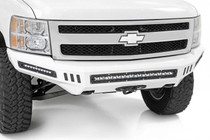 Chevy Front DIY Bumper Kit (07-13 Silverado 1500) with LED lights shown