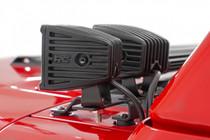 Jeep Quad LED Light Pod Kit (18-20 JL / 2020 Gladiator) - rear view of light pods