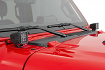 Jeep 2-Inch LED Cube Easy Mount Kit (18-20 JL / 2020 Gladiator) - mounted view
