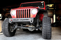 Jeep Stubby Front Bumper (87-06 Wrangler TJ/YJ) - displayed on a vehicle