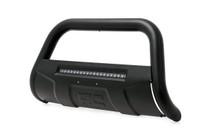 GM 2500HD/3500HD PU 11-19 Bull Bar w/ LED Light Bar Black