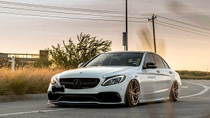 2015-2020 Mercedes (E-Class/C-Class/GLC-Class)(AWD) Air Lift Kit with Manual Air Management - vehicle front view