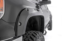 Chevy Pocket Fender Flares w/ Rivets (14-15 Silverado 1500) - displayed on a vehicle