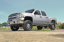 Chevy Pocket Fender Flares w/ Rivets (07-14 2500/3500HD) - displayed on a vehicle
