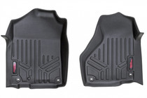 Heavy Duty Floor Mats (Front) - (12-18 Dodge Ram) Full Length Floor Console for Regular / Quad Cab