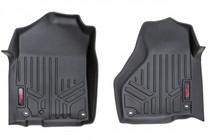 Heavy Duty Floor Mats (Front) - (12-18 Dodge Ram) Full Length Floor Console for Regular / Quad Cab