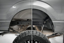 Ford Rear Wheel Well Liners (15-20 F-150) before and after view