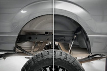 Ford Rear Wheel Well Liners (09-16 F-250/F-350 Super Duty) - before and after view