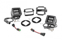 Jeep 2-IN Cree LED Fog Light Kit (Black Series | 10-18 Wrangler JK)