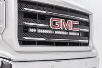GM 30-IN Curved Cree LED Grille Kit | Single Row (14-18 1500 PU) - installed view