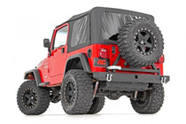 Jeep Classic Full Width Rear Bumper w/ Tire Carrier (87-06 Wrangler YJ/TJ)- mounted view