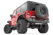 Jeep Rock Crawler Rear HD Bumper w/ Tire Carrier (07-18 Wrangler JK) - mounted lower rear view