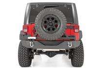 Jeep Rock Crawler Rear HD Bumper w/ Tire Carrier (07-18 Wrangler JK) - mounted rear view