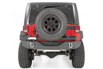 Jeep Rock Crawler Rear HD Bumper w/ Tire Carrier (07-18 Wrangler JK) - mounted rear view