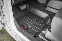 Jeep Heavy Duty Floor Mats (Front/Rear) - (14-18 Wrangler JK Unlimited) - displayed in vehicle