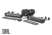 8-inch Cree LED Light Bar (Single Row, Pair | Black SEries w/ Cool White DRL)