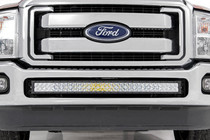 Ford 40-Inch Curved LED Light Bar Bumper Kit (11-16 F-250 Super Duty) displayed on a vehicle