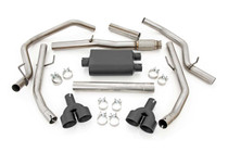 Dual Cat-Back Exhaust System w/ Black Tips (19-20 Chevy Silverado | 5.3L)