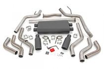 Dual Cat-Back Exhaust System w/ Black Tips (09-20 Toyota Tundra   V8 - 4.6L, 5.7L)