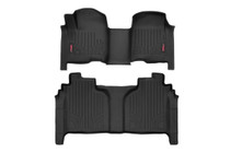 Heavy Duty Floor Mats (Front/Rear) - (19-20 Chevy Silverado/GMC Sierra| Crew Cab) - Bench Seat