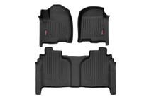 Heavy Duty Floor Mats (Front/Rear) - (19-20 Chevy Silverado/GMC Sierra| Crew Cab) - Bucket Seats
