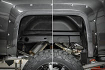 GMC Rear Wheel Well Liners (14-18 Sierra 1500 / 14-19 Sierra HD) before and after