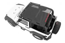 Jeep Wrangler JK Mesh Bikini Top Plus (07-18 | 2-Door) Black