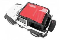 Jeep Wrangler JK Mesh Bikini Top Plus (07-18 | 2-Door) Red