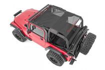 Jeep Wrangler TJ/YJ Mesh Bikini Top Plus (92-06) Black