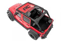 Jeep Wrangler JK Mesh Bikini Top (07-18) Red