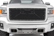GMC Mesh Grille (14-15 1500 Sierra) mounted view