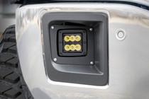 GMC 2-Inch Cree LED Fog Light Kit (Black Series   14-15 Sierra 1500) up close mounted view
