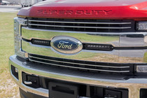 Ford 8in LED Grille Kit (17-19 Super Duty Lariat) displayed on vehicle