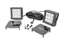 4-inch Square CREE LED Lights (Pair | Chrome Series w/ Cool White DRL)