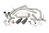 Dual Cat-Back Exhaust System w/ Black Tips (14-18 GM 1500 | 5.3L) all parts pictured in kit