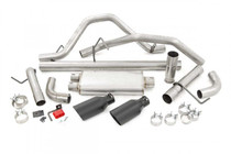 Dual Cat-Back Exhaust System w/ Black Tips (09-13 GM 1500 | 4.8L/5.3L) all parts included in kit