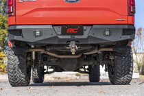 Dual Cat-Back Exhaust System w/ Black Tips (15-20 F-150) underside view mounted on vehicle