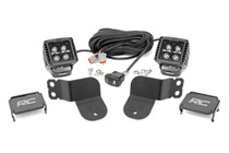 Polaris Dual LED Cube Kit (16-2- General) - Black Series w/ Amber DRL
