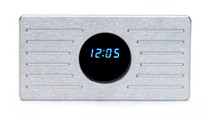 1935-36 Ford Glove Box Door / Brushed Aluminum with Clock (example)