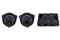 1968-1977 Chevy Corvette HDX Instruments with Black Alloy Background