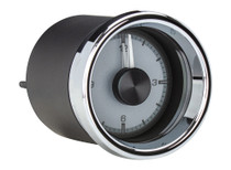 """2 1/16"""" Round Universal HDX Clock Silver Alloy side view"""
