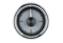 "2 1/16"" Round Universal HDX Clock Silver Alloy Background"