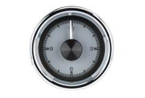 "2 1/16"" Round Universal HDX Clock Silver Alloy Background"