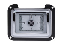1940 Ford Car / 1940-47 Ford Truck HDX Instrument Clock Silver Alloy Background