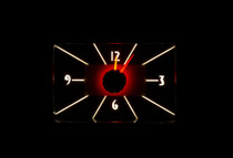1940 Ford Car / 1940-47 Ford Truck RTX Instrument Clock color theme Incandescent